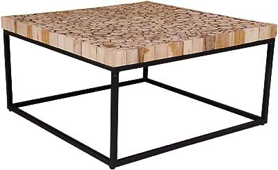 d'Appoint Résine cm vidaXL 110x60x40 Table Table Teck Basse EDWH29I