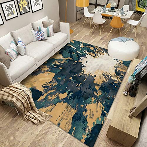 Gpink Waterproof Non-Slip Thick Carpet Simple And Generous Floor Mats Can Be Washed Suitable For Living Room Bedroom Homestay