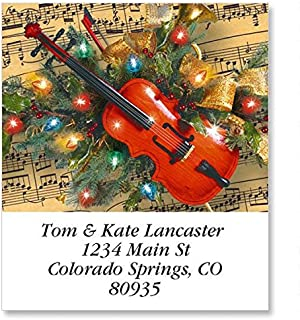 Christmas Music Select Address Labels - Self-Adhesive, Flat-Sheet Labels, 1 1/2 x 1 3/4 Set of 144