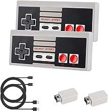 Controlador inalámbrico Laelr 2.4G Paquete de 2 Controladores NES Mini Gamepad Controlador de interruptor recargable de Ni...