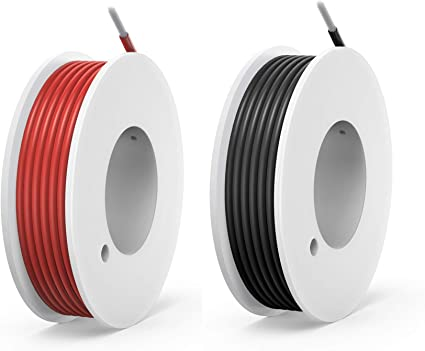 20AWG torons 0,08 mm 5 M//M 5 Noir 100//Silicone