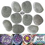 Piedras para pintar, 10 unidades, piedras de río, piedras decorativas, piedras de playa, piedras de roca lisas, para pintar, piedras decorativas, 5-8 cm