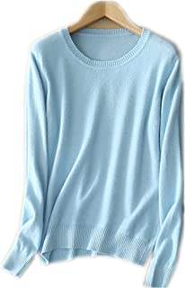 MMYOMI Womens Ladies Round Neck Cashmere Pullover Knitted Sweater Long Sleeve Knitwear Blouse Jumper Tops S-XXL
