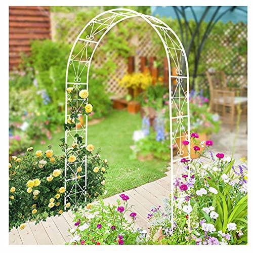 LYBC Arco per Piante Rampicanti,200x140x36cm,Pergolato Arco da Giardino Esterno,Arco per Rose Decorazione per Matrimoni,Nero,Bianco