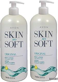 Avon Skin so Soft Original + Jojoba Body Lotion 33.8 Fl. LOT 2 BOTTLES