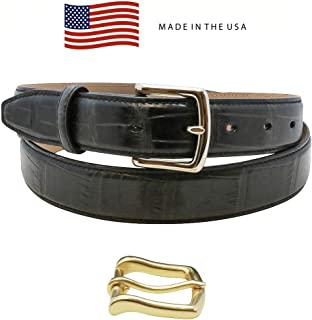 Made in the USA - Genuine Millennium Alligator Belt - Gold and Silver Buckles - Factory Direct - 1 ¼