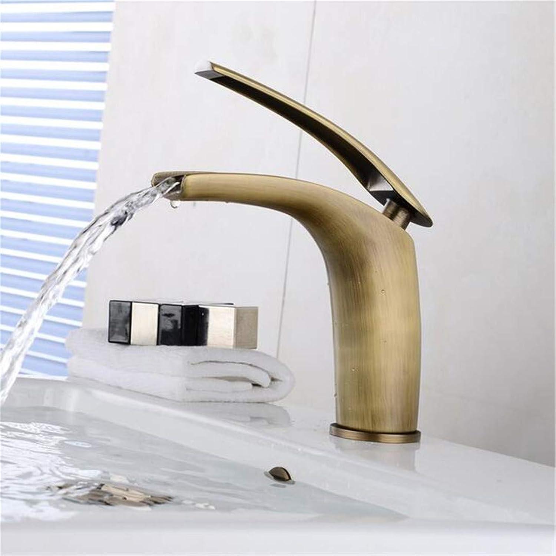 Basin Faucet Bathroom Sink Faucet Waterfall Bathroom Faucet Single Handle Basin Mixer Tap Bath Basin Faucet Brass Vessel Sink Water Tap Mixer