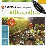 Gardena 13010-20 13010-20-Set de Inicio S 15 m de hileras sensibles de la Cocina y Plantas Ornamentales, Negro