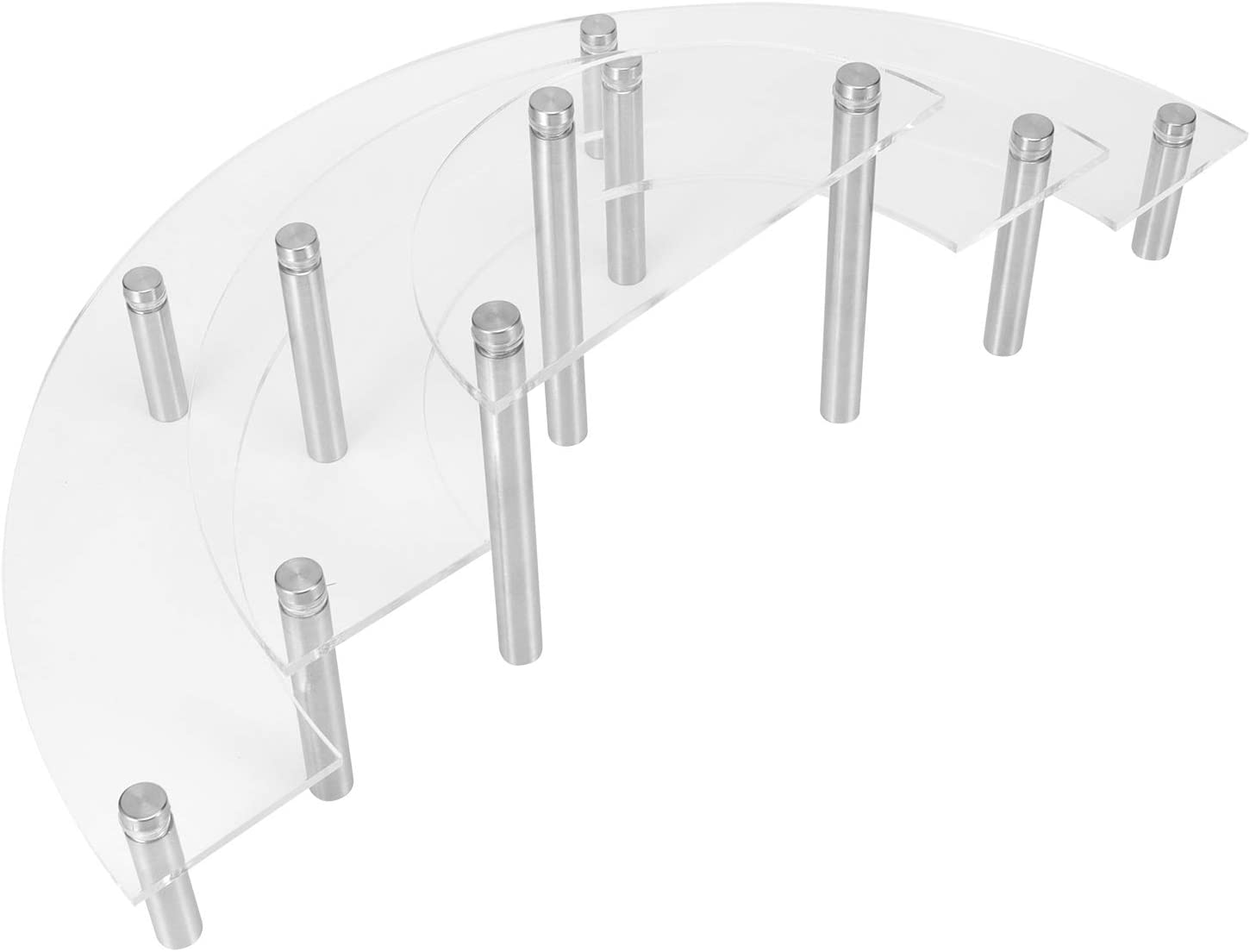 3-Tier Clear Acrylic Cupcake Stand, Cake Plate Stand 3-Tier Acry