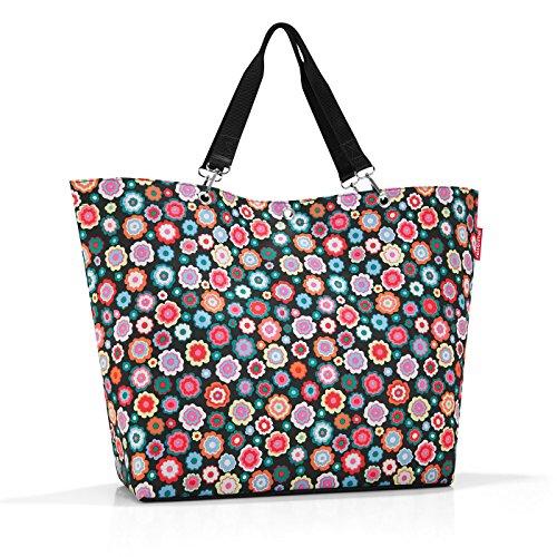 Reisenthel shopper XL Borsa da spiaggia, 68 cm, 35 liters, Multicolore (Happy Flowers)