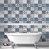 Contour Blue Porches Kitcehn Papier peint de salle de bain