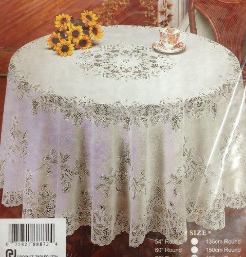 Crochet Mantel de vinilo (182,88 cm redondo)