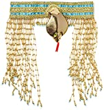 Forum Novelties Women's Egyptian Costume Accessory Asp Snake Beaded Headpiece, Gold, One Size