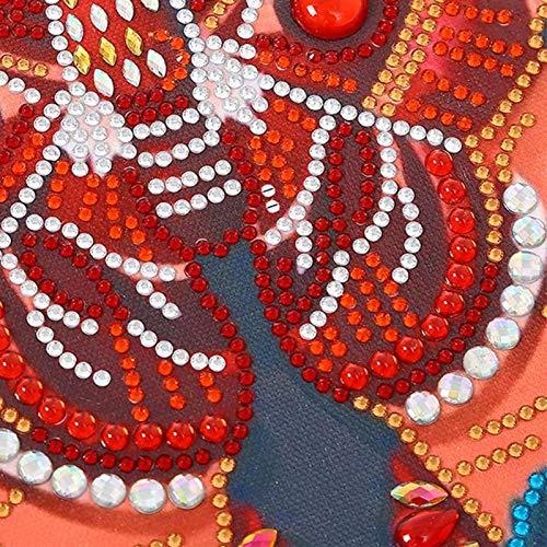 Rosvola Pintura de Diamante de Mariposa, Juego de Pintura de Diamante de Buen Efecto Visual Suave y Plegable, para Sala de Estar, Dormitorio