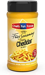 Gourmet Fries Seasonings Bottle, Cheesy Cheddar, 9 Ounce