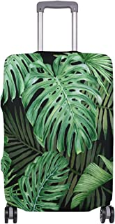 Mydaily Tropical Palm Leaves Luggage Cover Fits 24-26 Inch Suitcase Spandex Travel Protector M