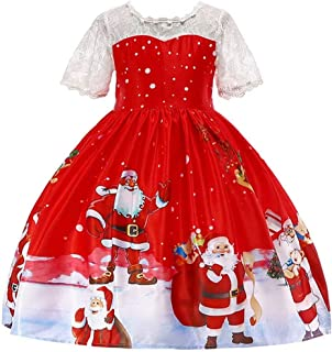 Girls Sleeveless Ice Cream Print Round Neck Cotton Party Dresses 3-8Years
