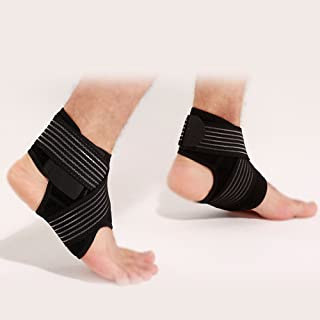 Men Activewear Ankle stabilizers Compression Socks Ankle Support Ankle Compression Sleeves MMA shin Guard Fasciitis Socks Anti-Kicking Socks Orange,M