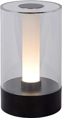 Lucide 26501/03/30 Lámpara de mesa, Acrílico, 3 W, Negro, Transparente