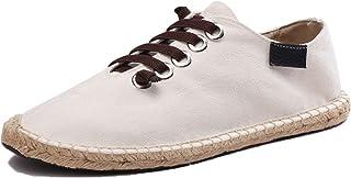 Hommes Espadrilles Chaussures en Toile légères et durables Chaussures décontractées Respirantes à Lacets antidérapantes po...