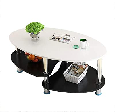 Coffee Table,Double Table Tea Table,Small Home Tea Table,Living Room Table,Large Storage Space,Non-Slip Foot mat,for Living Room and Bedroom