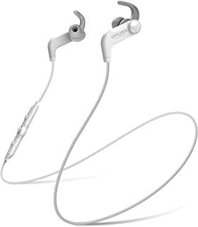 BT190iW Wireless Bluetooth Earbuds, in-line Microphone, Volume Control and Touch Remote, Sweat Resistant, White