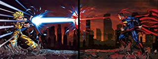 Goku vs Superman Set of 2 Pictures. Action 3D Holographic Poster. Fan Art. Included, 2 Unframed Prints