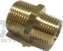 EDGE INDUSTRIAL Brass REDUCING HEX Nipple 3/4