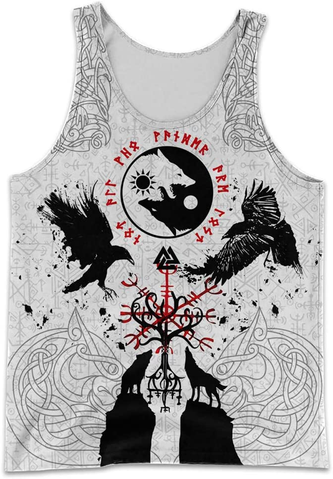 YABEME Men's Import Viking Clothes Set Austin Mall Duplex Mythology Norse Print 3D