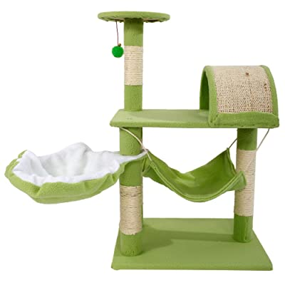 32 Inch Cat Tree Cat Climb Holder Kitty Condo F...