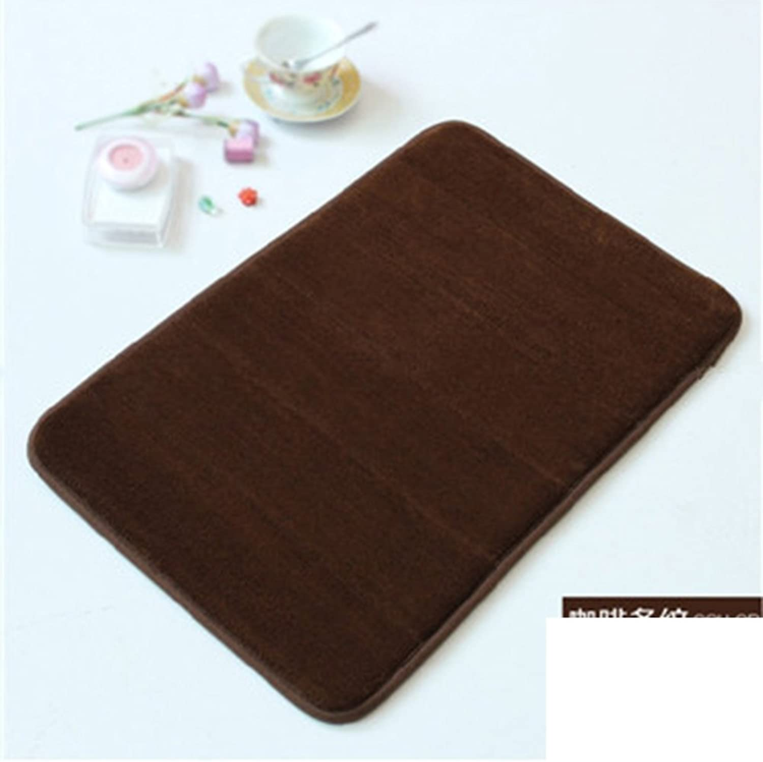 DXG&FX Toilet door thickened mat water absorption and anti-skidding mat foot pad-A 80x120cm(31x47inch)