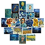 50 pcs Van Gogh's Stickers for Laptop Computer Decals, Laptop Stickers Bomb Vinyl Waterproof Stickers Variety Pack for Luggage Computer Skateboard Car Motorcycle Decal for Teens Adults
