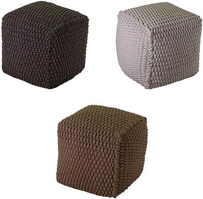 Daunex Cubo Contenitore Pouf Stampato Tirolo T082 Grigio
