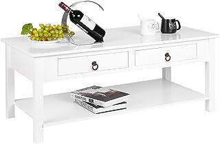 Amazon Fr Table Basse De Salon Avec Tiroirs