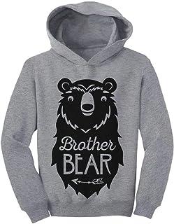 Tstars Big Brother Bear Cute Gift Sibling Boy Family Toddler Hoodie