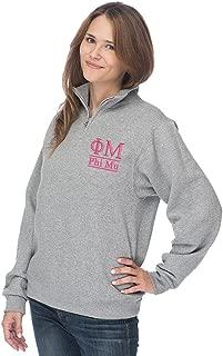 Phi Mu Quarter Zip Pullover Sweatshirt