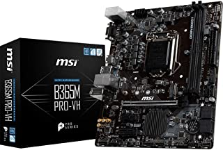 MSI ProSeries Intel B365 LGA 1151 Support 9th/8th Gen Intel Processors Gigabit LAN DDR4 USB/VGA/HDMI Micro ATX Motherboard...