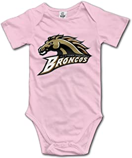 Western Michigan Broncos Cute Short Sleeves Variety Baby Onesies Body Suits For Boys