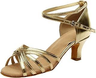 YOcheerful Sandals for Women, Women's Rumba Waltz Sandals Prom Ballroom Sandals Latin Salsa Dance Shoes Sandals