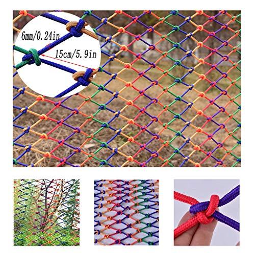 Geländer für Kinder, Sicherheitsnetz für die Wand, Trennwand für Treppen, Netz zum Einhängen von Kleidung, Netz I 2x9m