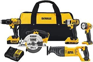DEWALT 20V MAX Cordless Drill Combo Kit, 5-Tool (DCK520D1M1)