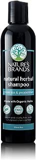 Herbal Choice Mari Natural Shampoo, Green Tea & Peppermint; 8floz, Made with Organic