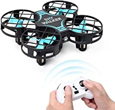 Mini Drone for Kids, RC Nano Quad-Copter, Altitude Hold, Headless Mode 3D Flips, One Key Return and 3 Speed Adjustment, Best Drone Toy for Kids and Beginners (RED) (Blue) (Blue)