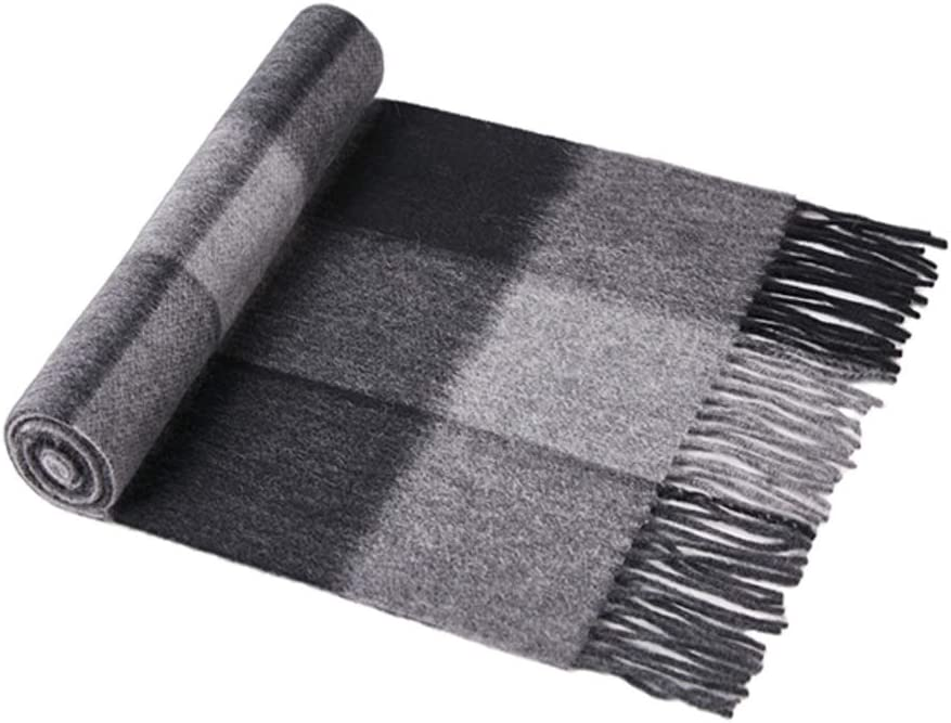 ZANZAN Cold Weather Scarves Men's Scarves in Winter, Pure Cashmere Warmth Tassels Soft Shawl Scarves A High-end Gift Box Thanksgiving for Parents Decorative Scarf