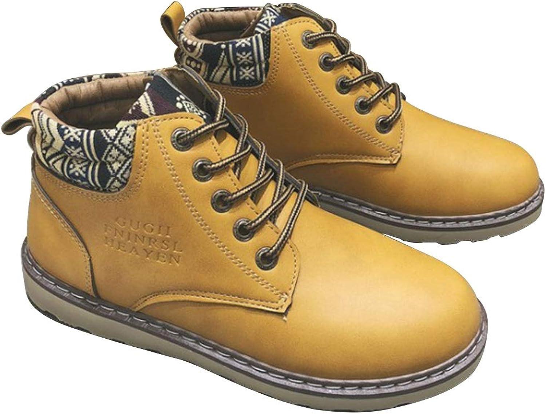 EGS-schuhe Konstruktion Gummisohle Freizeitschuhe Martin Stiefel Kurze Arbeitsstiefel Arbeitsstiefel Herren-Arbeitsstiefel aus weichem Zehenleder,Grille Schuhe (Farbe   Gelb, Größe   41)  billiger Laden