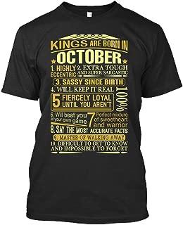 Libra Tshirt Kings are Born in October Libra Tshirt for Men