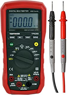 Tekpower TP8268 AC DC Auto/Manual Range Digital Multimeter with NCV Feature, Mastech MS8268 Upgraded