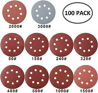 Meules meule ponceuse meuleuse papier abrasif 150mm 15h grain p400 100 lots