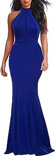 Women's Elegant Chic Halter Neck Sleeveless Solid...