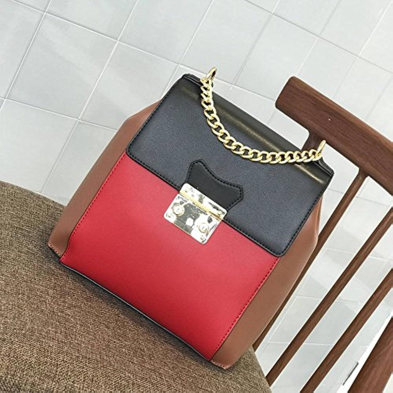 YTTY Multifunktionale Damenhandtasche Kettennhten Umhngetasche Reise Umhngetasche Diagonal Umhngetasche, rot